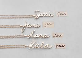 customized pendants personalized handwriting name necklace women customized jewelry