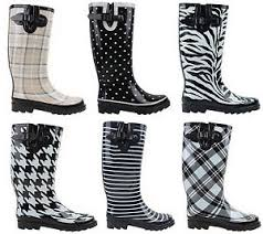 womens flat wellies mid calf rubber boots