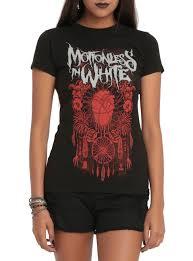 motionless in white evil dreamcatcher girls t shirt topic