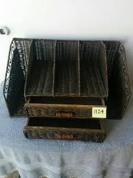 Wicker Desk Organizer Sold 1124 Wicker Desk Organizer Jennijunk