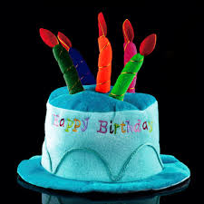 unisex kids happy birthday plush cake hats novelty cap