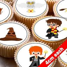 edible cake decorations 24 edible cake toppers decorations harry potter ebay