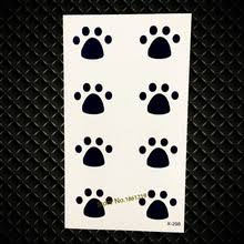 buy dog footprint tattoo and get free shipping on aliexpress com
