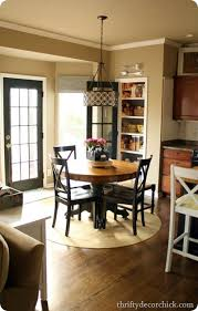 ikea table turned farmhouse table from thrifty decor