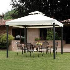 giardini con gazebo gazebo 3x3 in alluminio con camino antivento per arredo giardino