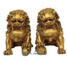 foo lion statue 2018 large pair bronze lion foo dog statue figure
