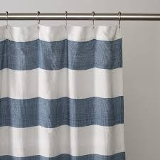 Grey And White Striped Shower Curtain Navy Blue And White Striped Shower Curtain