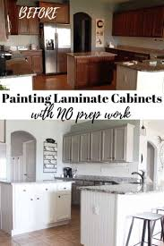 no prep kitchen cabinet paint painting laminate cabinets with no prep work and no sanding