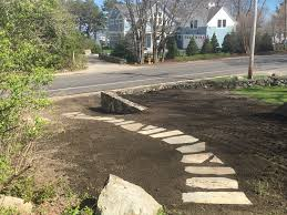 How To Regrade A Backyard Recent Projects Thibodeau Landscaping