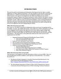 Law Enforcement Resume Examples by Law Enforcement Records Management Systems Rmss U2014 Fbi