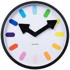 horloge bureau horloge design colorée kollori com