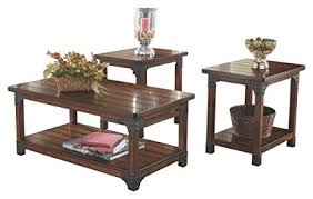 brown coffee table set amazon com ashley furniture signature design murphy coffee table