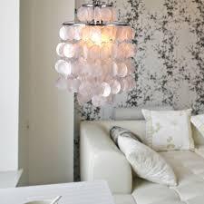 Wallpaper For Living Room Lighting Beautiful Capiz Shell Chandelier For Home Lighting Ideas