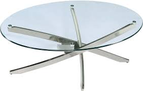 Glass Oval Coffee Table by Zila Coffee Table The Brick
