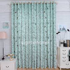 Teal Bird Curtains Turquoise Beautiful And Delicate Room Darkening Bird Print Curtains