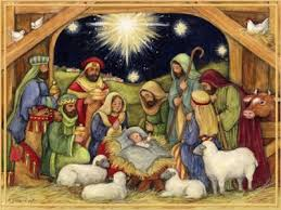 nativity adore him cards box of 18 susan winget