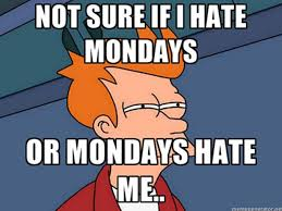 I Hate Mondays Meme - not sure if i hate mondays or mondays hate me pictures photos and