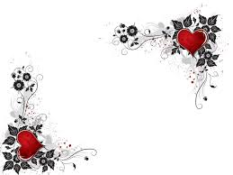 red heart flower ppt backgrounds ppt backgrounds templates