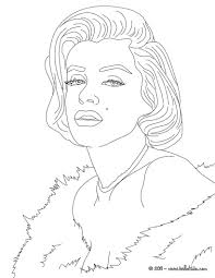 marylin monroe coloring pages hellokids com