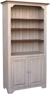 Pine Bookcase With Doors Solid Wood Amish Home Office Furniture Colonial Pine Bookshelf Or