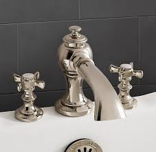 lugarno deckmount roman tub faucet set polished nickel 621