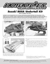 hayabusa undertail 2000 01 bodies racing