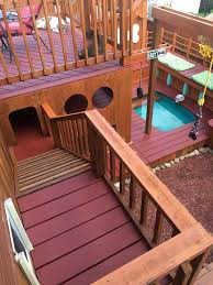 guy takes two years to build incredible 3 story backyard play area