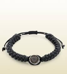 leather bracelets for men gucci wrap leather bracelet for men in black for men lyst