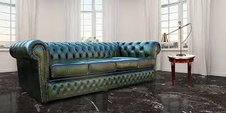 Green Leather Sofa by Buy Green Leather Chesterfield Sofa Uk At Designersofas4u
