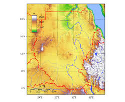 Africa Topographic Map by Maps Of Sudan Detailed Map Of Sudan In English Tourist Map