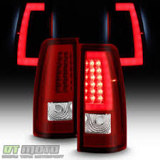 2004 silverado tail lights a 2003 2004 2005 2006 chevy silverado red led tail lights w led bar