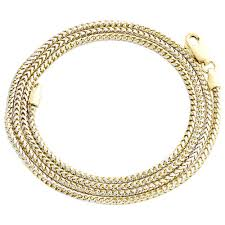 gold solid necklace images 10k yellow gold solid diamond cut franco box chain 1 50mm necklace jpg