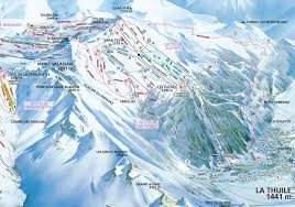 Turin Italy Map by La Thuile Piste Map J2ski