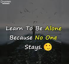 quotes learning to be alone drunken voice facebook