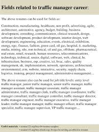 Manager Resume Examples Top 8 Traffic Manager Resume Samples