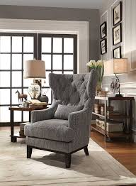 Grey And White Accent Chairs Amazon Com Homelegance Adriano Accent Chair With Kidney Pillow