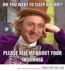 Funny Sleep Memes - oh you can t sleep the meta picture