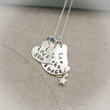 Jewelry With Names Love You To The Moon And Back Necklace With Name And Birthstone
