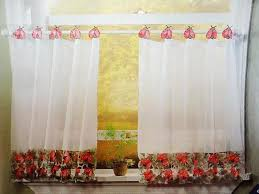 Cafe Curtain Pattern Kitchen Cafe Curtain Add Style To Your Kitchen Interiordesignew Com