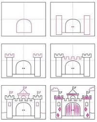 draw a castle castles crown and queens