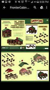 lincoln log homes floor plans 13 best lincoln logs building instructions images on pinterest