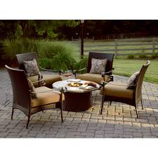Fire Patio Table by Patio Furniture With Fire Pit And Combination Of Elements Home
