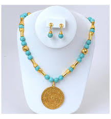turquoise necklace sets images Turquoise necklace set art jewels from colombia jpg