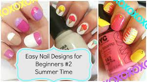 diy summer nail art three easy designs nail art
