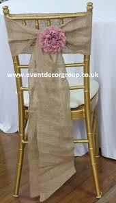 Burlap Chair Sash Hessian Burlap Vintage Wedding Chair Cover Sashes 8