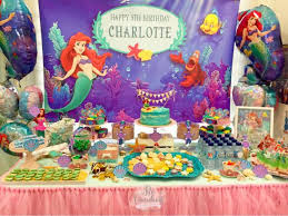 themed dessert table ariel the mermaid themed dessert table for a 5 years