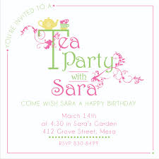 sweet tea time party collection invitation