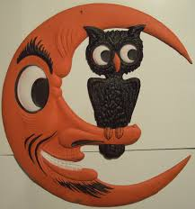halloween owl vintage german moon and owl halloween diecut a photo on flickriver