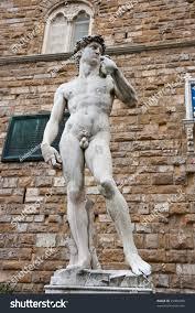 replica david statue by michelangelo buonarroti stock photo