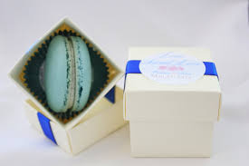 macaron wedding favors gourmet baking randomness blue macaron wedding favor